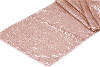 Glitz Sequin Table Runner - Blush/Rose Gold