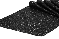 Glitz Sequin Table Runner - Black