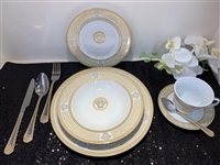49 PCS DINNER SET, Gold Design