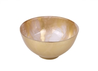 "Gold-White Marble Bowl - 6""D"