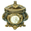 "Cameo  9""H JEWELRY BOX"