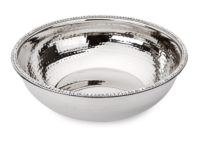 Stainless Steel Bowl w Stones
