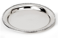 Stainless Steel Round Tray w Diamonds