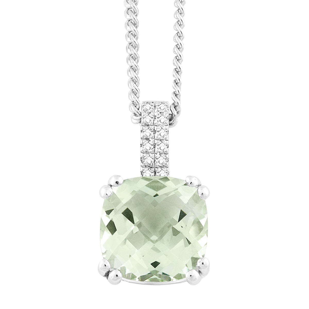 quartz silver green prasiolite amethyst necklace cut index pendant sterling classic oval product pakat