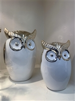 Porcelain set owls