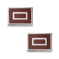 Stainless Steel Tan Square Cuff Links