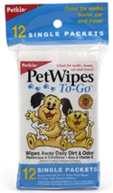 Pet Wipes To-Go Singles (12ct)