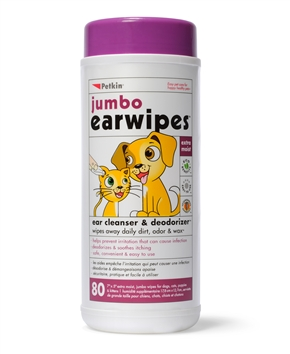 Jumbo Ear Wipes (80ct)