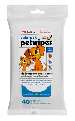Pet Wipes Valu-Pak (40ct)