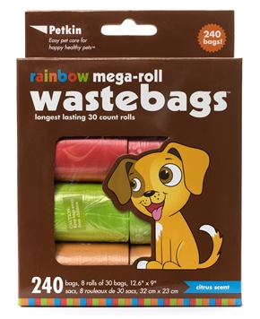 Rainbow Mega-Roll WasteBags (240 bags)