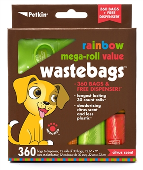 Rainbow Mega-Roll Value WasteBags