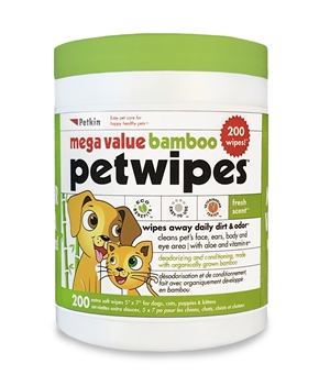 Mega Value Bamboo PetWipes