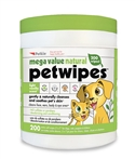 Mega Value Natural Pet Wipes (200ct)