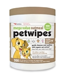Mega Value Oatmeal Pet Wipes (200ct)