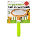 Soft-Grip Bamboo Oval Slicker Brush