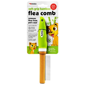 Soft-Grip Bamboo Flea Comb