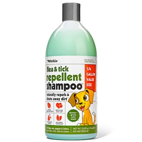 Flea & Tick Repellent Shampoo - Lemongrass Mint Scent (33.8 oz)
