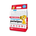 Germ Removal* 10 Travel Pack Petwipes (100ct)