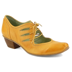 Mentha Ivor Lace Up Pump Yellow