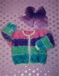 Mustachio Child's Big Stripe Cardigan Pattern