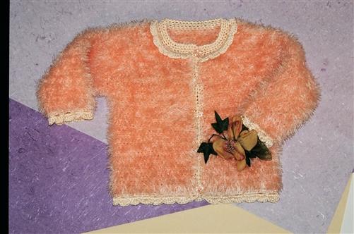 Mustachio Crochet Child Cardigan Pattern