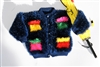 Child's Mustachio Mock Pocket Cardigan Pattern