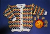 Child's Mustachio Multicolor Slip Stitch Cardigan Pattern