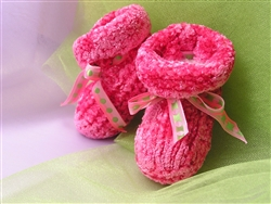 Touch Me Felted Baby Booties Pattern GY564