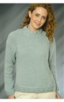 Top Down Ladies Pullover Sweater FREE Pattern