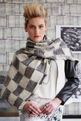 Reversible Ikat Wrap/Scarf - Vogue Knitting Magazine, Early Fall 2014