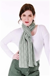 6101J Cardiff Cashmere Classic Moving Boxed Cable Scarf