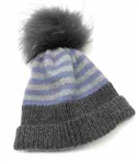 Cardiff Cashmere Classic Striped Hat