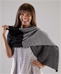 Cardiff Cashmere Classic Striped Angular Wrap