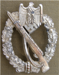 Reproduction European Made German WWII Bronze Panzer Assault (Panzer Sturmabzeichen) Badge