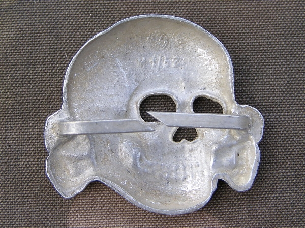 Reproduction European Made SS Metal Cap Skull And Eagle