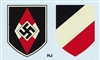 Hitler Jugend & Tri-Color Shield Water Transfer Decals