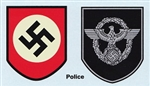Police & National Party Shield Water Transfer Decals