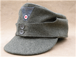 Heer M-43 Wool EM Fieldgray Cap (Feldmützen) With Original Buttons