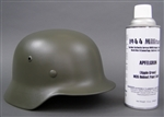German WWII Apple Green M35 Helmet Spray Paint