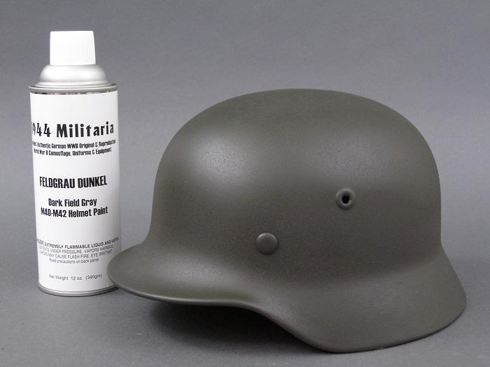 German WWII Feldgrau Dunkel Dark Fieldgray M40 M42 Fallschirmjger Helmet Spray Paint