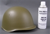 Soviet WWII Moss Green Helmet Spray Paint