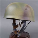 "Reproduction German WWII ""Normandy Camouflaged"" M38 Fallschirmjäger Helmet ckl68 ""Late War"" Issue"