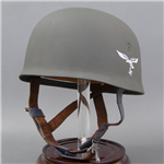 "Reproduction German WWII M38 Fallschirmjäger Helmet ET68 ""Wartime"" Issue"