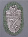 Reproduction German WWII Demjansk Shield For Heer And Waffen SS