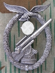 German WWII Luftwaffe Flak Artillery Badge