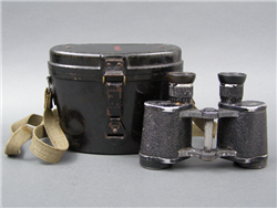 Original German WWII 6x30 Binoculars (Dienstglas) With Black Bakelite Case