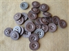 Original 15 mm Press Paper Shirt Buttons (Set of 30)