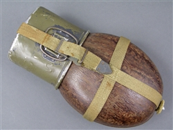 Original German WWII Tropical Pressed Wood Canteen HRE 43