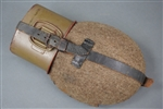 Original German WWII Late War Non-Matching .7 Liter Canteen With Cup MN43 & CFL43