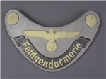 Original German WWII Feldgendarmerie Gorget Without Chain Made By Assmann